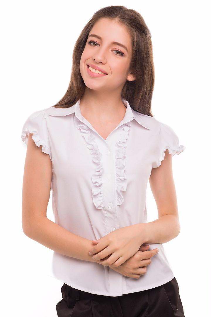 Блуза Алика, белый ,рост 128-140