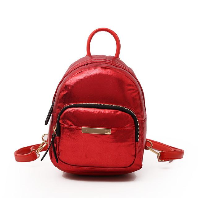 Женский мини рюкзак красный