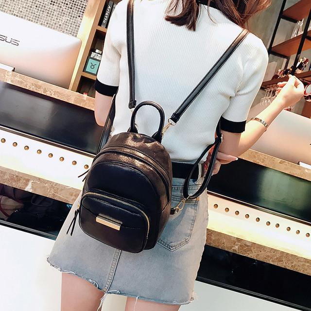Женский мини рюкзак черный