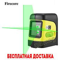 Зеленые лучи Лазерный уровень нивелир 2 линии Firecore F112G аналог bosch GLL 2-15 самовыравнивающийся