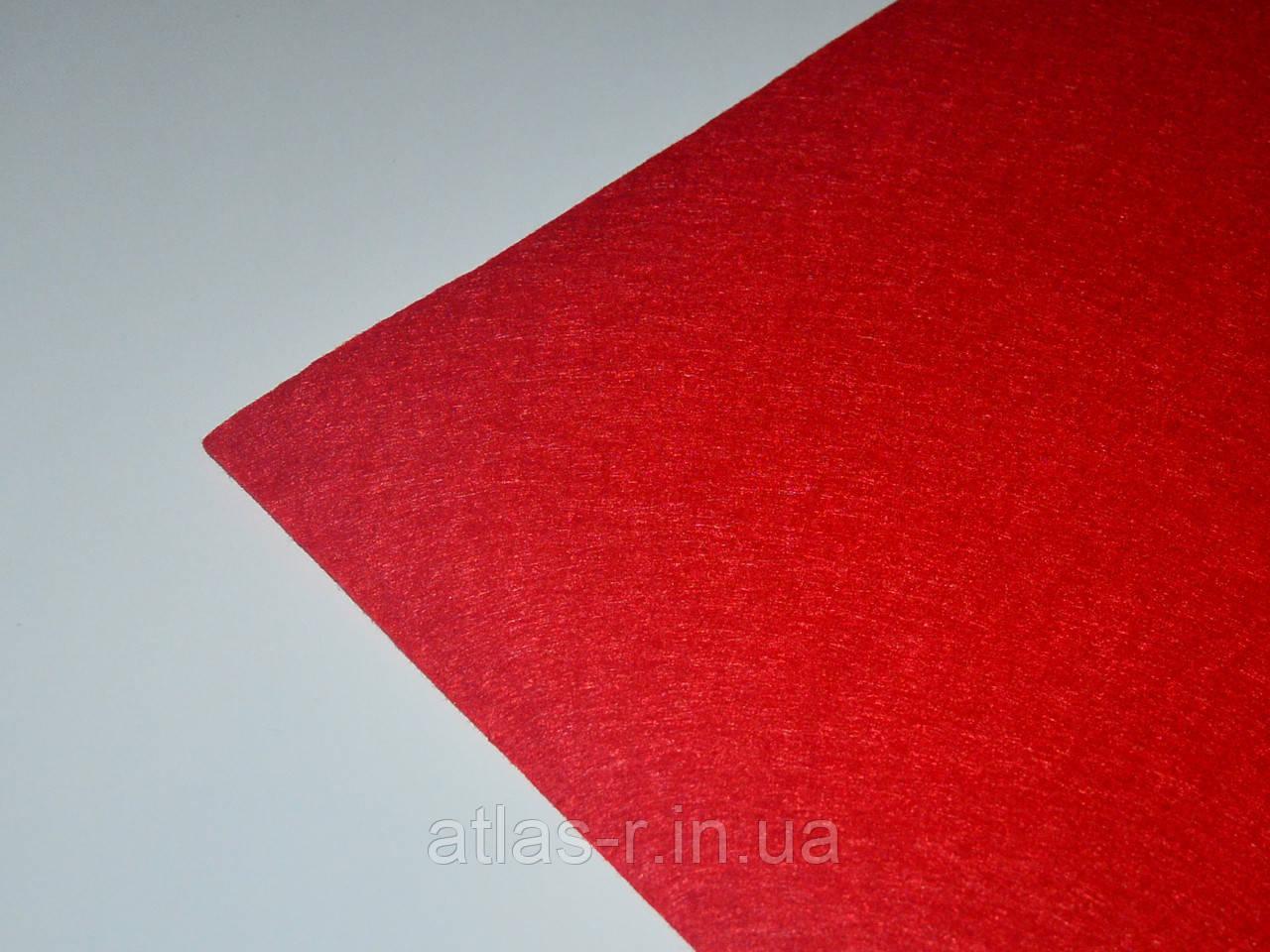 Мягкий фетр для рукоделия красный, алый листовой 1,3 мм, фото 1
