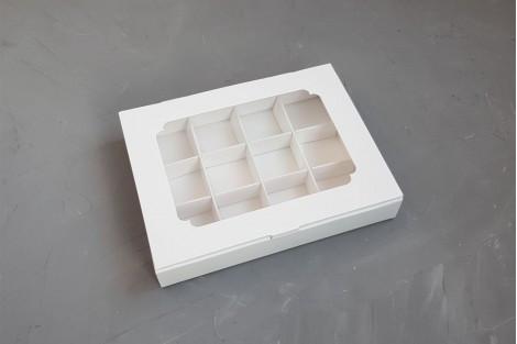 Коробка для конфет на 12 шт с окошком Галетте - 06574