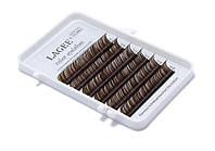 Коричневые ресницы LAGEE (NAGARAKU) 6 линий, темный шоколад