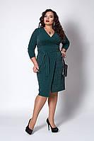 Платье  мод 721-5 размер 52,54,56,58 изуруд