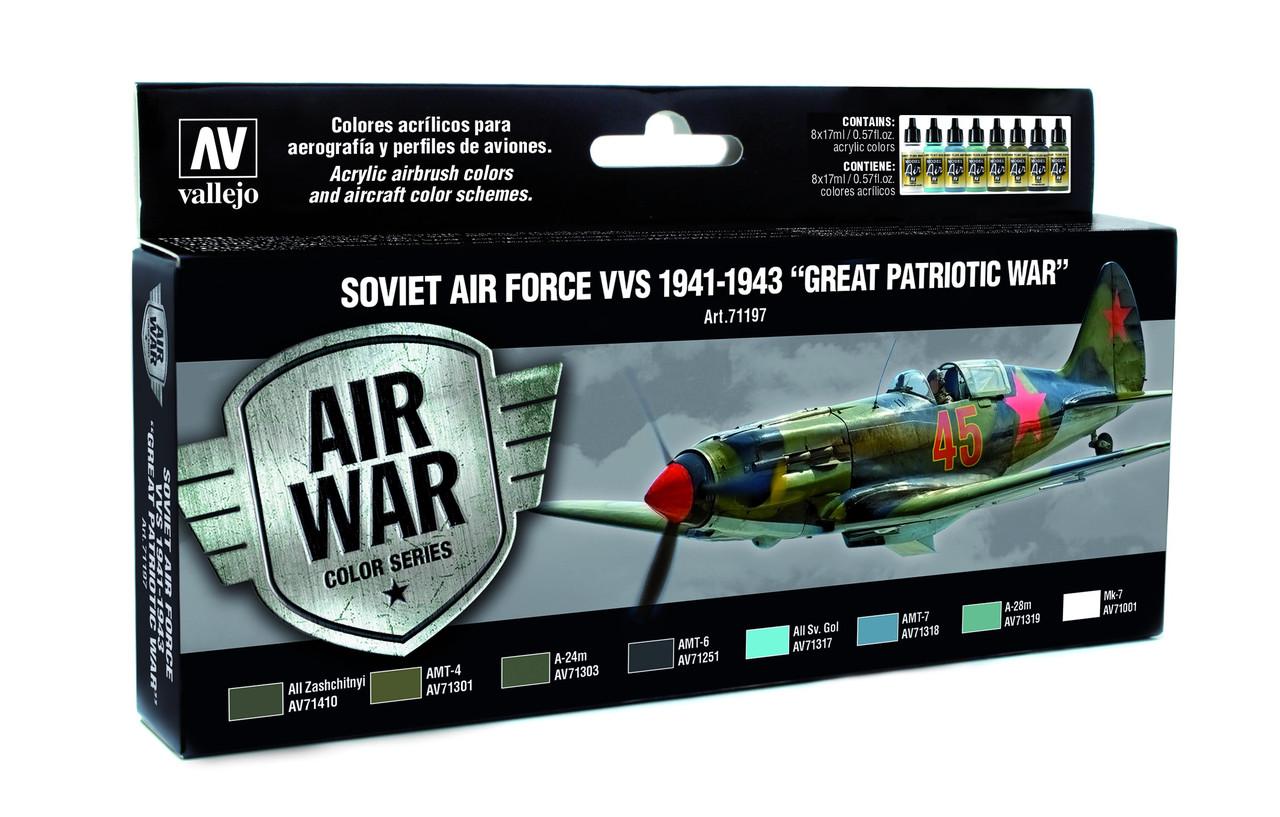 Набор красок для сборных моделей самолетов. Советская авиация 1941-1943 года . VALLEJO 71197