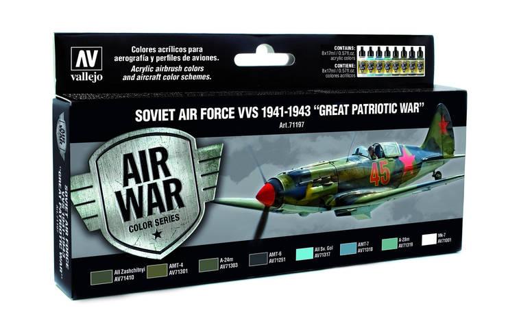 Набор красок для сборных моделей самолетов. Советская авиация 1941-1943 года . VALLEJO 71197, фото 2