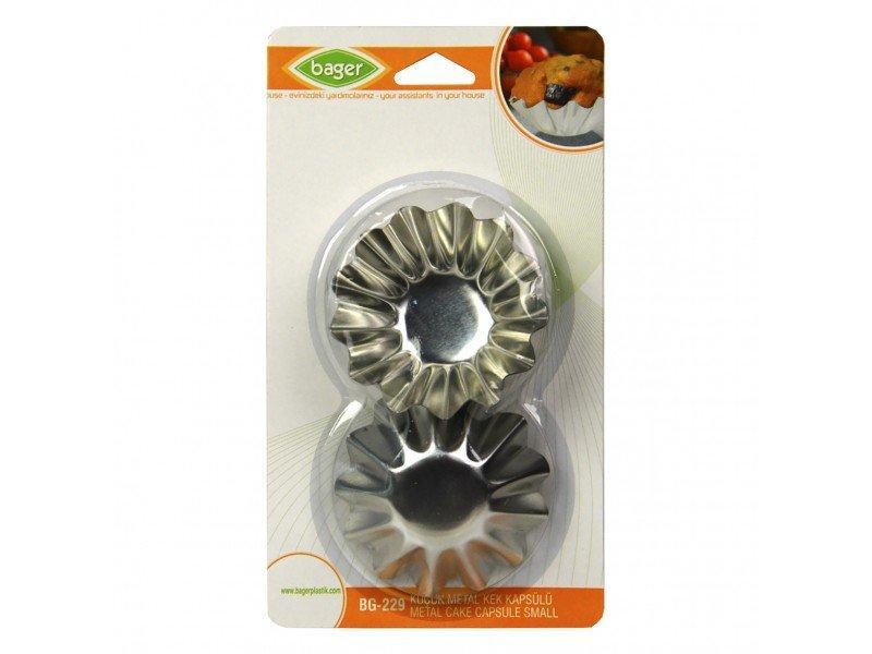 Формочки для кексов малые 6шт, металлические BG-229