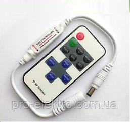 Диммер Biom 6А-RF-11 кнопок 12V, 72W, RF - пульт д/у
