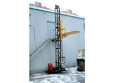 Грузовой подъемник-подъёмники мачтовый-мачтовые секционный  г/п-1500 кг, 1,5 тонны. Высота подъёма, м 35, фото 3