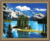 Картина гобеленовая Северный уголок 48х35см в багетной раме