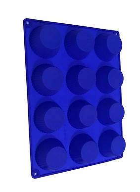 Форма силиконовая для выпечки кексов 12 шт классический