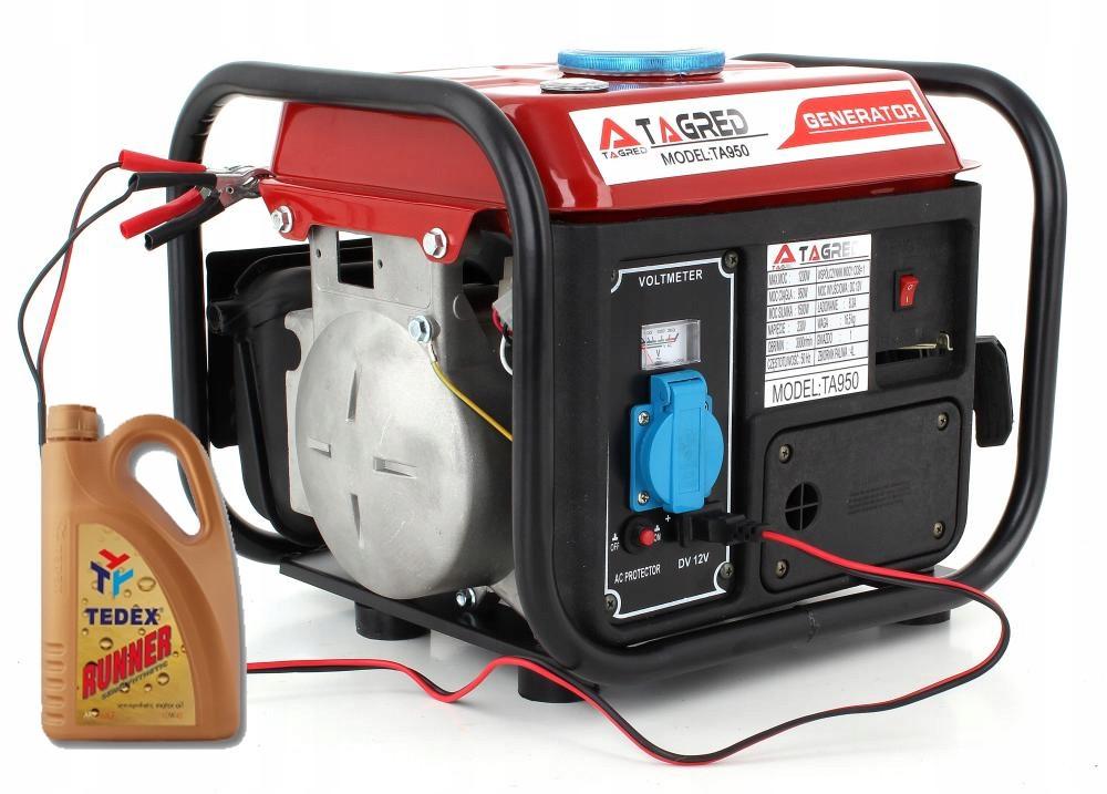 Генератор бензиновый TAGRED 1200W + 1 л масла (бензиновий генератор 1.2 кВт Тагред для дому), фото 1