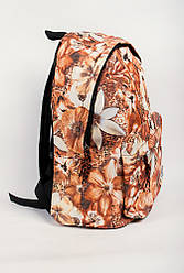 Рюкзак с принтом 444KY006 (Бежево-коричневый)