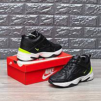 "Зимние кроссовки на меху Nike M2K Tekno Mid ""Black/Yellow"" (Черные), фото 3"