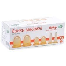 БАНКИ МАССАЖ.НАБОР 6ШТ