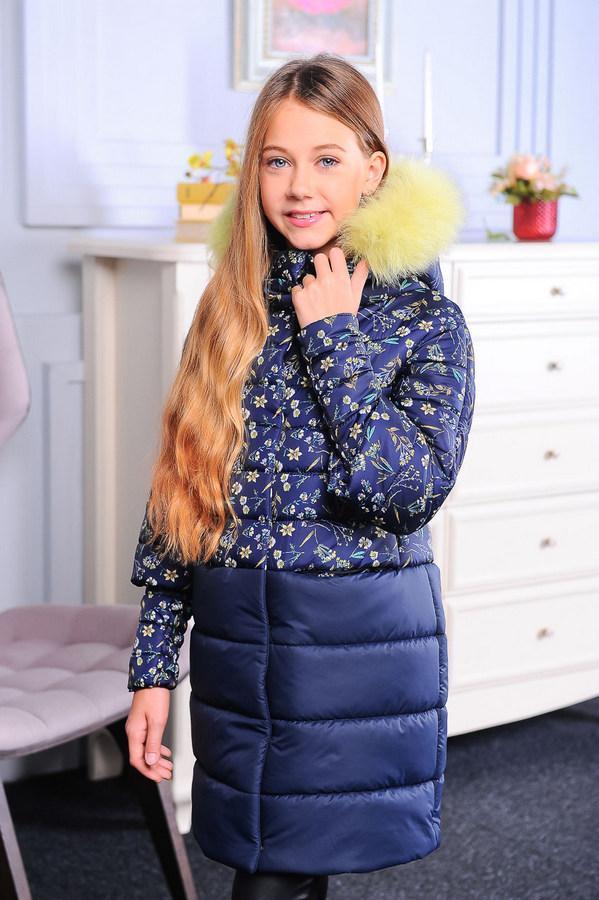 Куртка «Кристи», принт-4,  122-152 рост