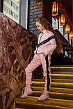 Детский супер тёплый спортивный костюм на девочку ( 4 цвета)  трикотаж на меху, фото 2
