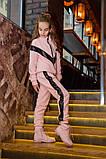 Детский супер тёплый спортивный костюм на девочку ( 4 цвета)  трикотаж на меху, фото 6