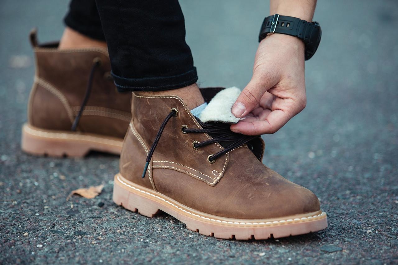 Ботинки  мужские зимние  SOUTH,натуральная кожа. КАЧЕСТВО КЛАССА ЛЮКС!!!