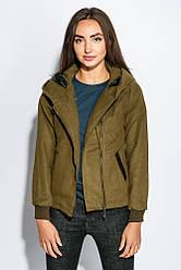 Куртка женская мягкая, демисезонная 678K002 (Хаки)