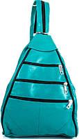 Женский рюкзак-трансформер TUNONA SK2404-14, 12 л, кожаный, зеленый