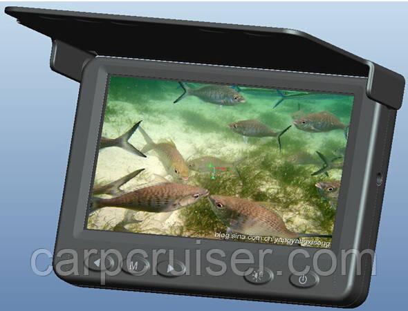 """HD 250кд/м2 0.01LUX Подводная видео камера Carp Cruiser СC43-PRO-HD для рыбалки 4.3"""" монитор 15 м кабель"""