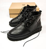 "Мужские ботинки UGG Australia Neumel 3236 Leather ""Black"" (Реплика ААА+)"