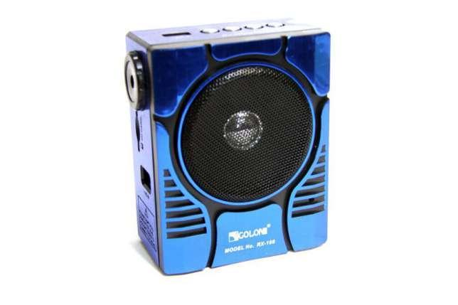 Радиоприемник колонка MP3 Golon RX-188 MIC Blue