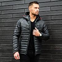 Куртка зимняя мужская black. Живое фото