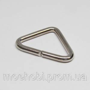 Треугольники для сумок (26мм) никель, 4363