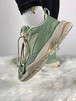 Жіночі кросівки Puma Desert Thunder Wmns Smoke Green/Silver Green. Живе фото (Репліка ААА+)