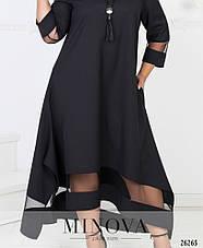 Шикарное женское нарядное вечернее платье макси цвета марсала размеры: 50-64, фото 2