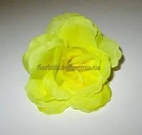 Головка розы желтая 7,5 см