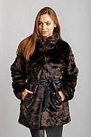 Шуба Норка №22 стрижка поперечная с утеплителем , фото 1