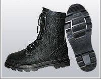 Ботинки (берцы) юфть/кирза ВФ демисезон ОМОН бортопрошивные черные