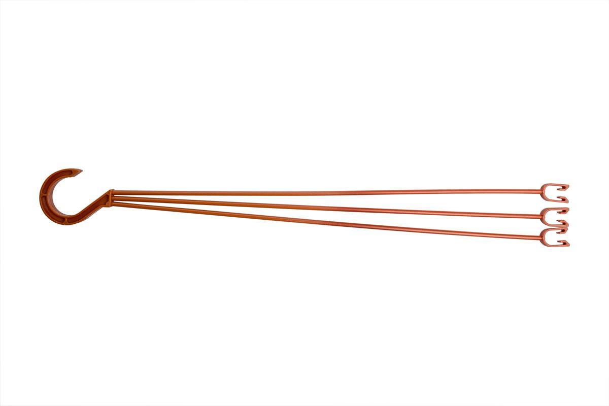 Подвеска горшка для цветов коричневая