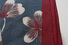 """Теплый кашемировый шарф """"Земфира"""" (синий), фото 3"""