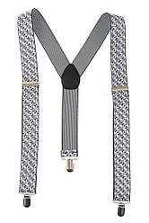 Подтяжки мужские с узором 23P030 (Бело-серый)