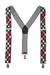 Подтяжки мужские с узором 23P030 (Красно-черный)