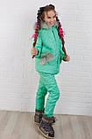 Детский супер тёплый зимний костюм на девочку куртка +брюки ( 5 цветов)  плащевка, синтепон, флис, фото 3