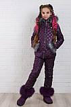 Детский супер тёплый зимний костюм на девочку куртка +брюки ( 5 цветов)  плащевка, синтепон, флис, фото 4