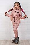 Детский супер тёплый зимний костюм на девочку куртка +брюки ( 5 цветов)  плащевка, синтепон, флис, фото 9
