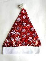 Шапка Деда Мороза со снежинками, фото 1
