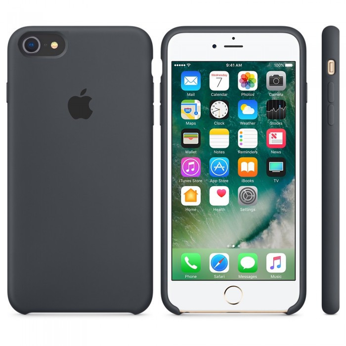 Apple Silicon Case for iPhone 7/8 Dark Gray