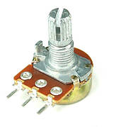 Резистор переменный B 500K 15mm WH148 1A-1-18T-B504-L15 ( без гайки)