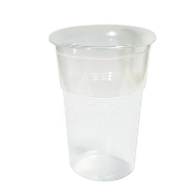 """Стакан купольний одноразовий """"шейкер"""" для коктейлю 350мл (50 шт/уп)"""