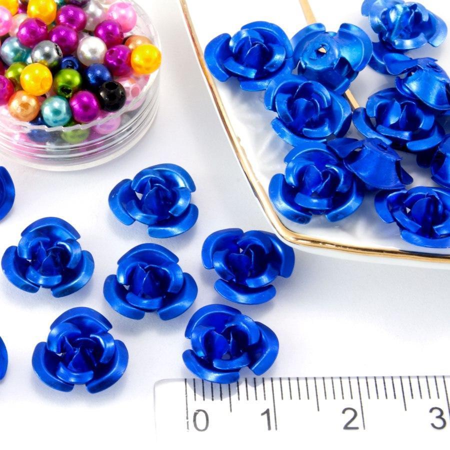(≈35-40шт) Розочки металл Ø11мм, серединки Цвет - Синий