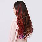 Волосы на заколках цветные мини трессы, магахон, фото 4
