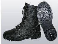 Ботинки (берцы) юфтевые ВФ демисезон бортопрошивные черные, фото 2