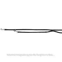 Trixie Cavo Adjustable Leash S-M круглый поводок-перестежка для собак черный 2м х 12мм